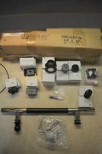 DreamLine SHDR-AC6111-18 Chrome & Black Shower Door Handle Set