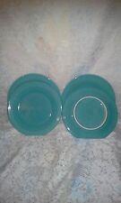 "4 DINNER PLATES set lot turquoise blue HOMER LAUGHLIN FIESTA WARE 10.5"" NEW"