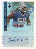 2014 Contenders Championship Ticket 117B Cyril Richardson RC SP 74/99 AUTO Bills