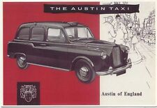 Austin Taxi FX 4 1963 Modern Postcard by Mayfair