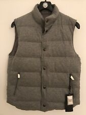 Massimo Dutti Grey Down Feather Gilet Bodywarmer Vest Waistcoat Reversible