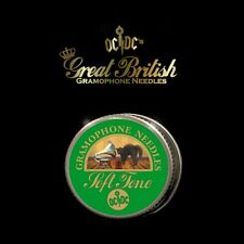 More details for brand new great british gramophone needles & tin - soft tone - made in uk