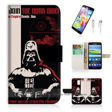 ( For Samsung S5 ) Wallet Case Cover Star Wars Darth Vador P1381