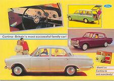 Ford Cortina Mk 1 Large Format MODERN postcard by Jenna