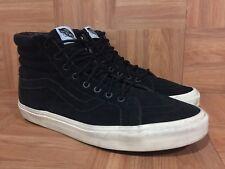 RARE🔥 Vans Sk8-Hi Black Suede White Walls Sz 11.5 Men's Skateboarding Bmx Shoes