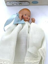 Vintage Nancy Ann Hush A Bye Series Baby Doll 210 Long Dress Original Box Blue