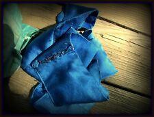 Exquisite Luxuriously Soft Antique Flapper 20s 2-Sided Trim Vivid Cobalt Blue