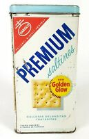 Vintage 1969 Nabisco Premium Saltine Crackers Tin With Lid