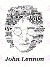 PITTURA typographyy BEATLES JOHN LENNON poster art print lv10562