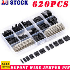 620Pcs Dupont Wire Jumper Pin Header Connector Housing Kit Female&Male Crimp Pin