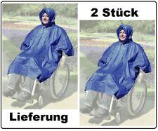 2x Poncho Regenschutz Rollstuhl Jacke Rainstar mit Kapuze Wetter Trocken Unisex