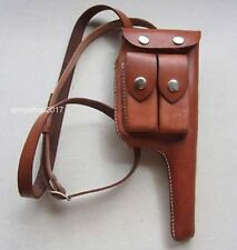 WWII WW2 Military German Mauser C96 Broomhandle Leather Holster With Strap