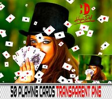 50 ACES CARDS TRANSPARENT PNG DIGITAL PHOTOSHOP OVERLAYS BACKDROPS BACKGROUNDS