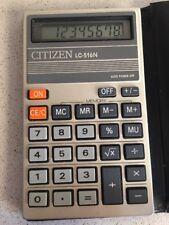 Citizen LC-516N Antigua calculadora vintage funciona Calculator 1985 Japan