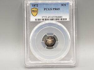 1872 Three Cent Silver PCGS PR65