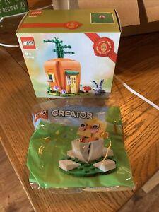Lego 40449 + 30579. Easter Bunny Carrot House + Easter Chick Egg. BNIB FREE POST