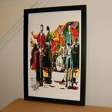 The Beatles, John Lennon Paul McCartney George Harrison Ringo Starr PRINT w/COA7
