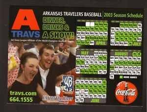 Arkansas Travelers--2003 Magnet Schedule--Coke--Angels Affiliate