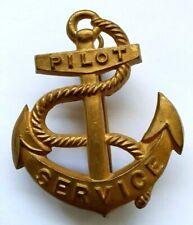 More details for royal navy merchant navy harbour pilot service cap badge - london maker - 2 lugs