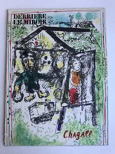 Marc Chagall-Derriere Le Miroir Cover-1969 Lithograph Fast Free Shipping
