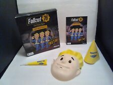 Fallout 76 Display PROMO Lot Standee, Mask, Party Hat BETA Bethesda RARE NEW HTF