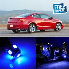 8Pcs Blue LED SMD Lights Bulbs Interior Package Kit For 2003-2012 Honda Accord