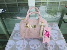 Betsey Johnson Luv Betsey Small Purse Color Pink With Gold Hearts NWT