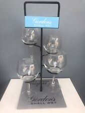 More details for rare stunning party piece gordons gin tree plus 4 x gin glasses