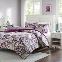 Intelligent Design Microfiber Melissa King Size Bed Comforter Set (Purple)