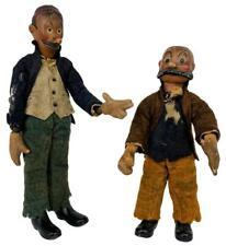 Pair SABA 1920s Swiss Bucherer Painted Metal Mutt Jeff Articulated Comic Figures