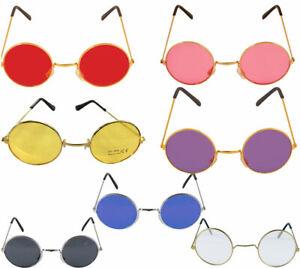 Round Lens Sunglasses Mens Womens Ladies John Lennon Small Circle Ozzy Hippie