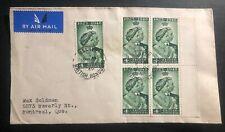 1948 Belize British Honduras first day cover King George VI Royal Silver Wedding