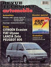 RTA revue technique automobile CITROEN EVASION FIAT ULYSSE PEUGEOT 806 LANCIA ZE