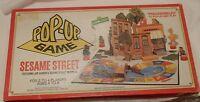 Sesame Street Pop-Up Board Game Vtg Cookie Monster Ernie Big Bird Oscar Grouch