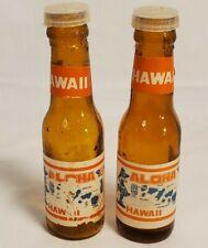 VINTAGE SALT AND PEPPER SHAKER SET- Aloha Hawaii