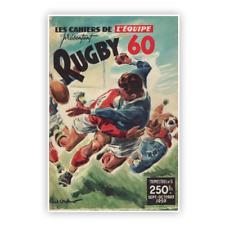 Affiche Poster Rugby vintage 1960 XV de France 50cmX70cm livraison offerte