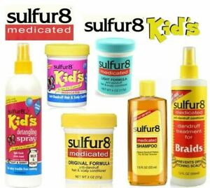 Sulfur8 Original, Medicated and Sulfur8 Kids Hair Products Full Range Available