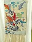 Mere Cie Fringed Tapestry Wall hanging Tropical Colorful Fish Water Sea Plants
