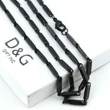 Maze Chain Necklace Unisex + Box Dg Men's Stainless Steel 24 Inches Black
