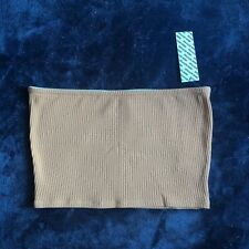 $24 NWT Urban Outfitters UO Tan Beige Brown Neutral Ribbed Knit Tube Top Large
