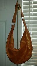 Junior Drake Orange Metallic Studded Hobo Handbag Purse Pocketbook