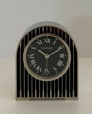 Cartier Backgammon Black Laquer Desk Clock