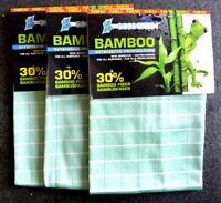 eccoGREEN 3x Bambou Intensivtücher Nettoyage sans Rayures Antibactérien