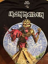 IRON MAIDEN SHIRT EVENT MEXICO CITY BOOK OF SOULS 2016 RARE TOUR SIZE XL