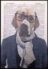Labrador Sable Impression Vintage Dictionary Page Art Mural Image Retriever