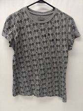 Disney Mickey Mouse Gray Womens Xl T-Shirt Many Faces Of Mickey Mouse