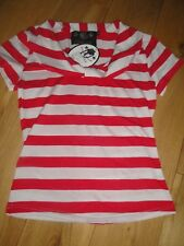COLLECTIF LADIES TOP SIZE XS RED STRIPE NAUTICAL PIN UP ROCKABILLY VINTAGE RETRO