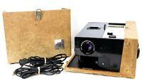 Vintage Kodak Cavalcade 520 Slide Projector in Tweed Case w/ Power Cord & Remote
