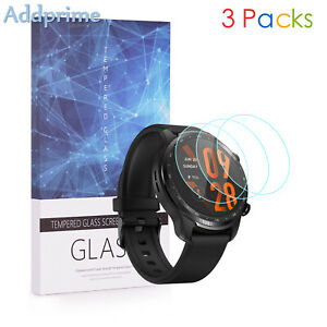 9H Hardness Tempered Glass Screen Protector  For TicWatch Pro 3 Ultra GPS 3 Pcs