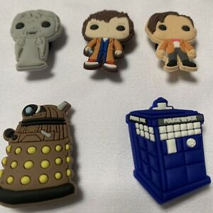 Dr Who 5 Piece Croc Charms For Croc Style Shoes